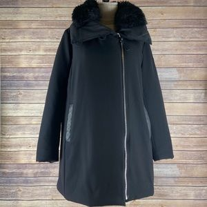 Derek Lam 10 Faux Fur Trim Parka Coat Jacket